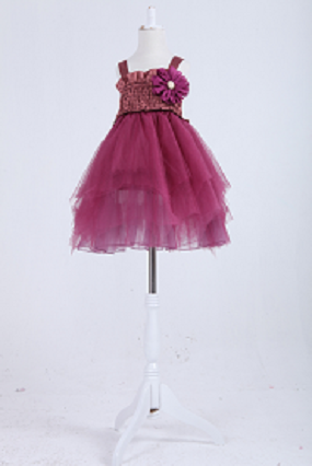 Girls' Dress #2201 purple