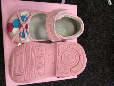 Girls' pink leather shoes PB-8017pk