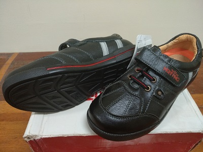black leather boy shoes 572273123