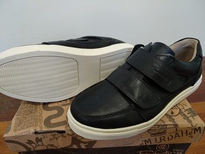 black Leather Boys' Shoes R13C208