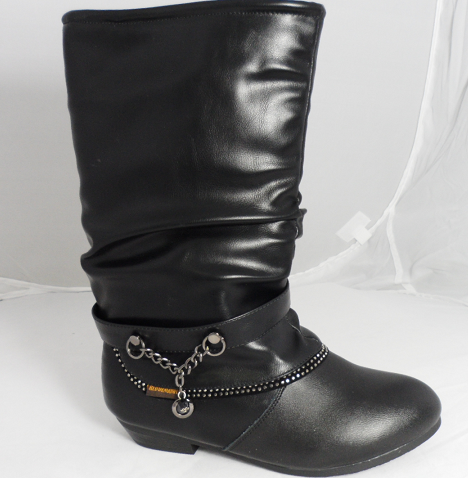 black leather boots 4