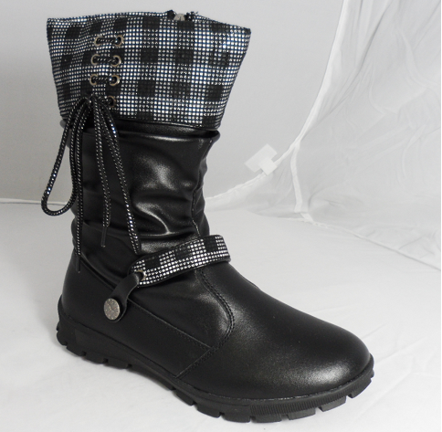 RDF black leather boots